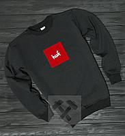 Мужской свитшот Huf черного цвета (Реплика)
