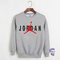 Свитшот Jordan серый (Реплика)