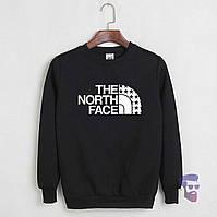 Спортивная кофта Норд Фейс, Мужская кофта The North Face, черная, трикотажная, реглан, свитшот
