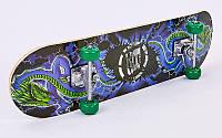 Скейтборд в сборе (роликовая доска) SK-115 (колесо-PVC, р-р деки 78х20х1,2см, 608Z)