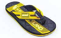 Вьетнамки для мальчиков KITO EC4211-YELLOW размер 31-34 черный-желтый