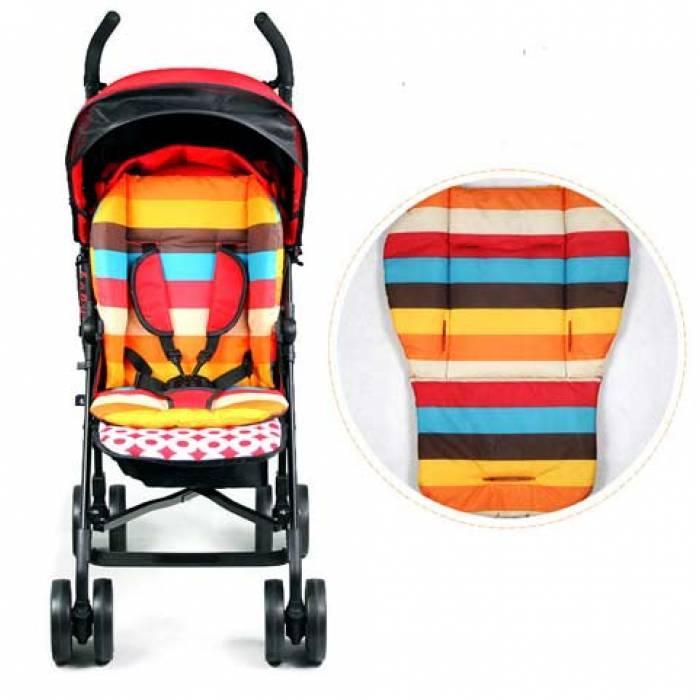 Непромокаемая подкладка мягкий матрасик для детской коляски стульчика автокресла, расцветки