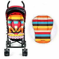 Непромокаемая подкладка мягкий матрасик для детской коляски стульчика автокресла, расцветки, фото 1