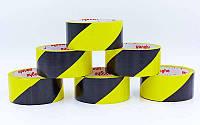 Скотч для разметки спортивных площадок C-6360-YBK (р-р 20мх4,8смх20мк, желтый-черный)