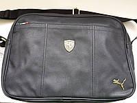 Стильный и практичный мужской аксессуар, сумка Puma Ferrari, из мира спорта, качественный кожзам, 42*29*13 см