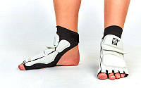 Защита стопы носки-футы для тхэквондо MTO BO-5097-W (PU, р-р S(33-34) - XL(39-40), l-19,5-27см, белая)