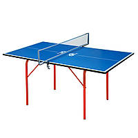 Стол теннисный детский GSI-Sport MT-4688 (Junior) (ДСП толщина16мм, металл, пластик, размер 1,36х0,76х0,64м,сетка)
