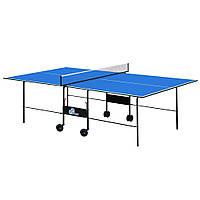 Стол теннисный GSI-Sport MT-4690 (Gk-2) (складной,ДСП толщина16мм, металл, размер 2,74х1,52х0,76м,сетка, синий)