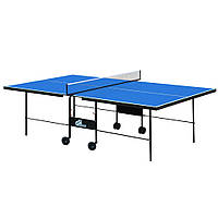 Стол теннисный GSI-Sport MT-4691 (Gk-3) (складной,ДСП толщина16мм, металл, размер 2,74х1,52х0,76м, сетка, синий)