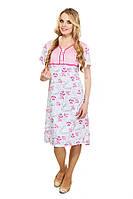Женская ночная сорочка розовая