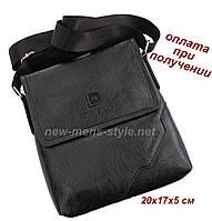 Мужская фирменная чоловіча кожаная сумка борсетка барсетка через плечо Diweilu, фото 1
