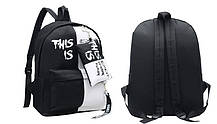 Крутой тканевый рюкзак для школы с пеналом, фото 3