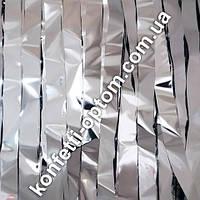Материал для бумажного шоу лента серебро премиум