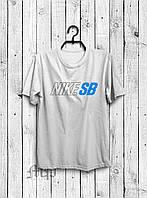Мужская футболка Nike, спортивная футболка Найк, хлопок, белая