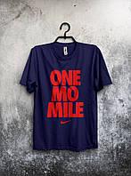 Мужская футболка Nike, спортивная футболка Найк, хлопок, синяя