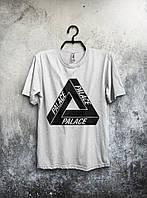 Мужская футболка Palace, спортивная футболка Пелес, хлопок, белая