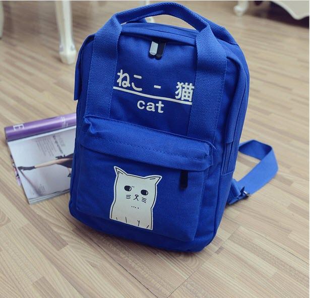 Милые тканевые рюкзаки с рисунком котика