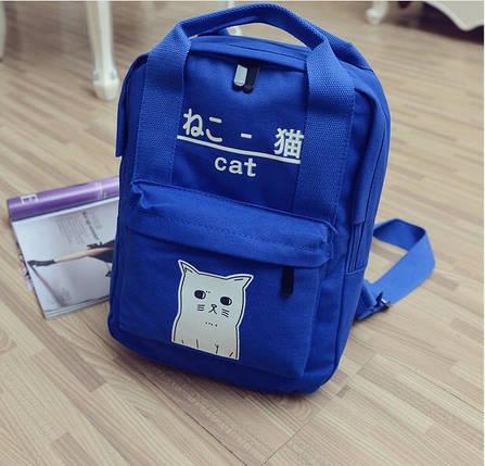 Милые тканевые рюкзаки с рисунком котика, фото 2