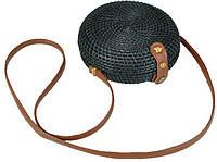 Плетеная женская сумка Mona WS03-626A, ротанг, черный