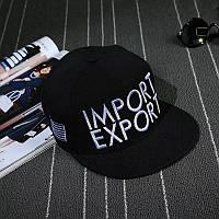 Кепка снепбек Import Export с прямым козырьком Черная, Унисекс, фото 1