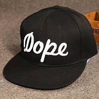Кепка снепбек Dope с прямым козырьком Черная, Унисекс, фото 1