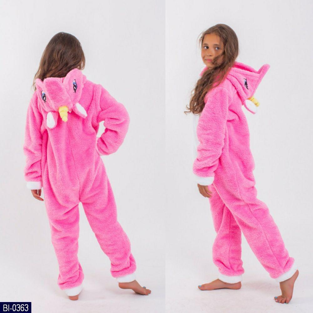 Домашний костюм - пижамка кигуруми, Единорог,  размер 4,6 лет