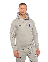 Футбольный костюм, тренировочный костюм Тотенхем, Андер Армор, полностью серый