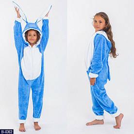 Детские цельные пижамы кигуруми, Заяц,  размер 6,10,14 лет
