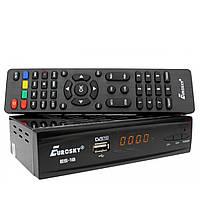Ресивер Eurosky ES-18 цифровой эфирный DVB-T2 тюнер (DVB-C/T/T2, АС3, Youtube, IPTV player, Megogo)