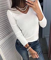Кофточка с кулоном женская чёрный, белый, пудра, капучино, серый, фото 1
