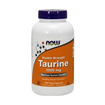 Аминокислота таурин Now Foods Taurine 1000 mg Double Strength (250 veg caps)
