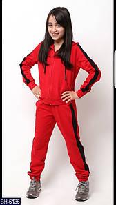 Спортивный костюм детский. Ткань двунитка. Цвет красный и серый. Размер 134, 140, 146, 152