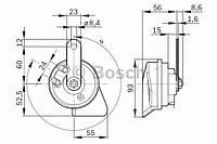 9320335206 Bosch Сигнал звуковой (клаксон) (Низкий)