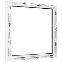 Окно одностворчатое глухое ALMplast 500х500 мм