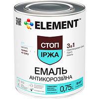 Эмаль Element 3 в 1 коричневая 0.75 л