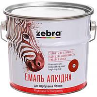 Эмаль Зебра Акварель ПФ-266 887 красно-коричневая 0.9 кг