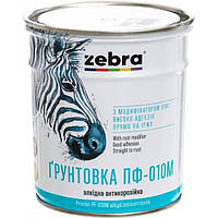 Грунт Зебра Акварель ПФ-010М 818 темно-серый 0.9 кг