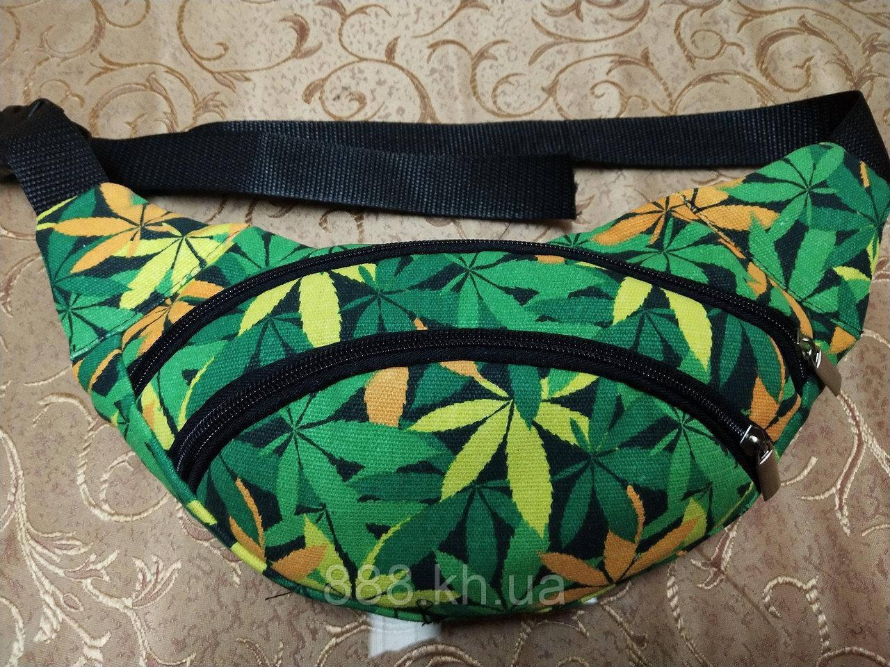 Поясная сумка принт мужская/женская, молодежная бананка на пояс, сумка через плече, барыжка городская.