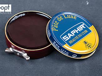 Паста для обуви Saphir Pate De Luxe, цв. бордовый (08), 50 мл