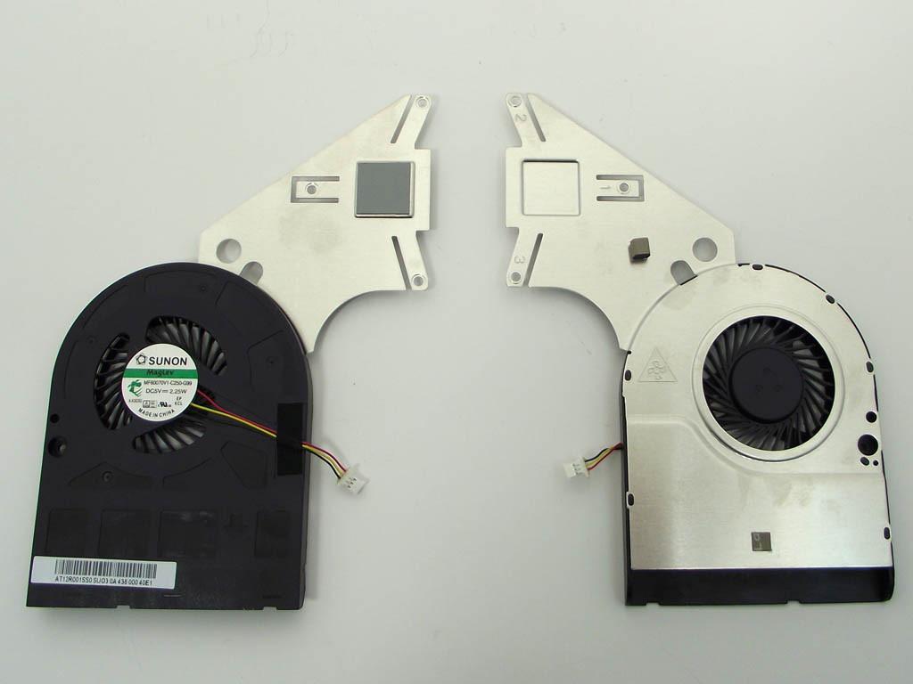 Вентилятор (кулер) для Acer Aspire E1-510, E1-510P (MF60070V1-C25, AT12R001SS) (система охлаждения)