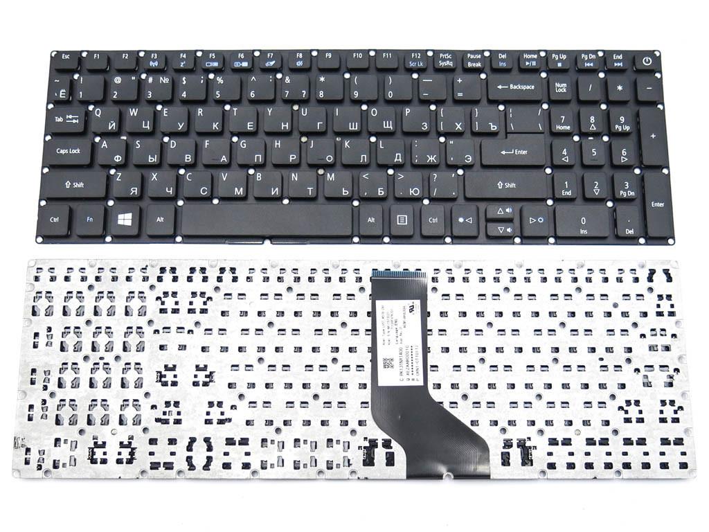 Клавиатура для ноутбука Acer Aspire E5-522, E5-573, E5-573T, E5-573G, E5-573T, E5-532G, E5-722, E5-772. V3-574G (RU Black без рамки) ORIGINAL
