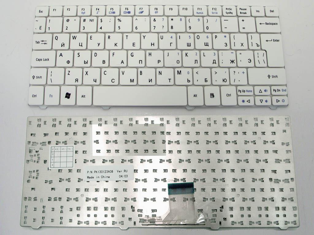 Клавиатура для ноутбука Acer Aspire One 721, 722, 751H, 752 Timeline 1810T, 1830T, 1410 ( RU White ).