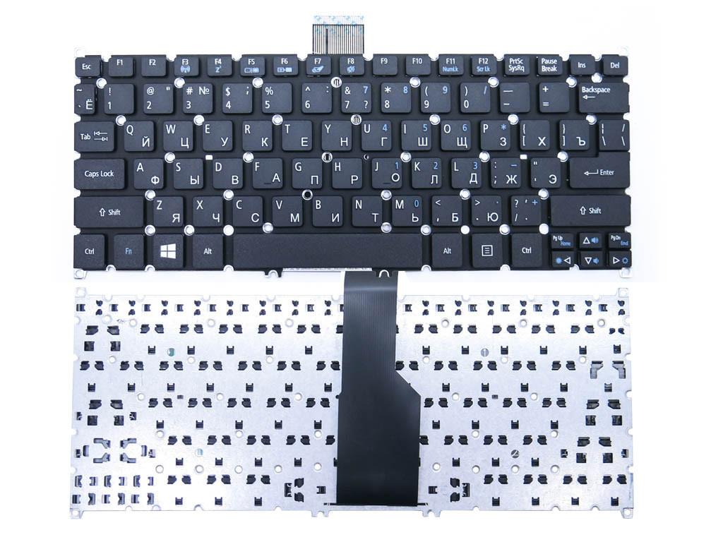 Клавиатура для ноутбука Acer Aspire S3, S5, ONE 756, 725, v5-121, v5-131 TravelMate B1 ( RU Black ). OEM