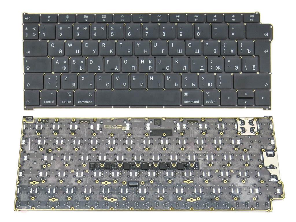 Клавиатура для ноутбука Apple A1932 Macbook Air (2018) (RU BLACK, Вертикальный Enter с подсветкой)