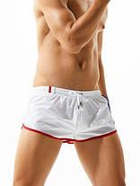 Мужские Короткие шорты пляжные, для купания Seobean (карман, сетка) Белые \ чоловічі шорти пляжні білі, фото 2
