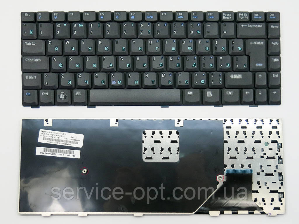 Клавіатура для ноутбука Asus W3, W3J, W3000, A8, F8, N80, X80, Z99 ( RU black )