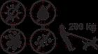 """Повідок KareLine's Keeper з біотану """"анти-сліп"""", ширина 15 мм, длина 1200 мм, фото 3"""