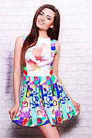 Платье женское цветочная абстракция Мия-2 б/р