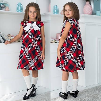 """Детское трикотажное школьное платье """"Бант"""" с бантом и коротким рукавом (3 цвета), фото 2"""