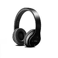 Наушники беспроводные Bluetooth гарнитура P15 MicroSD FM, черные